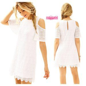 Lilly Somerset Dress Open Shoulder Cut-Outs Lace